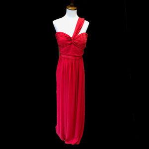 BCBGMaxazria Red One-Shoulder Gown